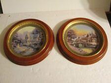 Thomas Kinkade 2005/6 2 Ceramic Plates #4446A & 5957A
