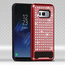Samsung GALAXY S8 /Plus Hybrid Bling Glitter Rugged Shockproof Hard Case Cover