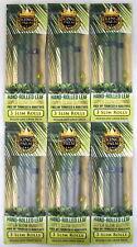 King Palm Slim Rolls 6 Packs Natural Leaf w/ Filter 18 Wraps w/ Packing Stick
