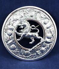 Large Scottish Rampant Lion Thistle Kilt Pin - Made in Britain