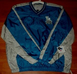 Los Angeles Dodgers Pullover Jersey Jacket Stitched Logos Two Sided MLB