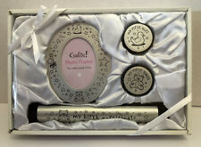 Baby Frame & Keepsake gift set Tooth/Curl &Birth Certificate Holder 4 piece Gift