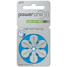 60 PowerOne Hearing Aid Batteries, SIZE 675, Newest Version