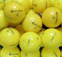 20 TaylorMade Mix Yellow Golf Balls Pearl A Grade
