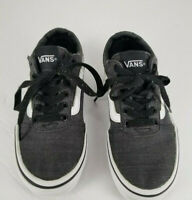 Vans Old Skool Skate Shoes Boys Classic US 13Y Black Lace Tie color Gray/White