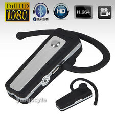 HD Bluetooth Headset Hidden Video Camera Audio Recorder Camcorder Cam DVR Mini