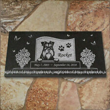 Schnauzer Personalized Dog Memorial - Granite Pet Memorial - 6x12 - Rocket