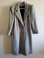 NYG New York Girl Womens Tweed Long Winter Coat Size 8 Pre Owned
