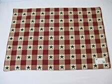 CHECKERBOARD STAR Park Design Placemat Country Red & Tan Plaid Blue Star NWT