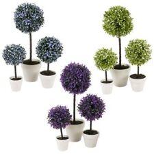 Flores secas y artificiales decorativas arboles de plástico para el hogar
