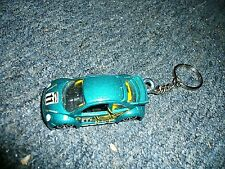 VOLKSWAGEN VW NEW BEETLE CUP RACE CAR DIECAST MODEL TOY CAR KEYCHAIN KEYRING BLU