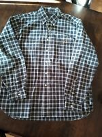 American Living XL Plaid Button Up Long Sleeve Shirt With Pocket On Front
