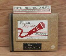 "Kohl's Recordable ""My Grandkids"" Photo Keepsakes Album Book **READ**"