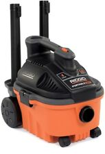 RIDGID Wet Dry Vacuum Portable Vac 4 gal. 5.0-Peak HP Large Rear Wheels Caddy