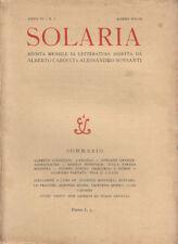 SOLARIA. ANNO SESTO - N. 3 - MARZO 1931 – LETTERATURA ITALIANA RIVISTE CALCIO