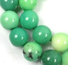 10mm Natural Green Chrysoprase Round Beads (18)