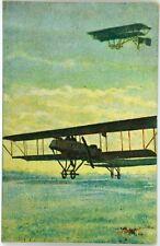 Cartolina Aviazione - Ritornando Al Crepuscolo, Pneus Pirelli - Viaggiata