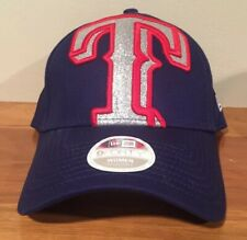 00bf87fe0242e Era Texas Rangers Women s Royal Glitter Glam 3 9forty Adjustable Hat