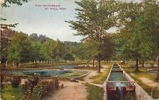 St Paul Minnesota~Fish Hatcheries~Flowers~c1910~Postcard