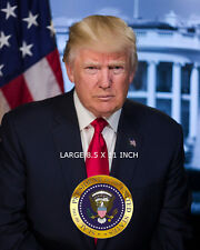 Seal OFFICIAL PORTRAIT OF PRESIDENT DONALD J TRUMP  8.5 X 11 GLOSSY PHOTO
