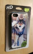 HD iPhone 5 5S Cell phone smart Cover View 3D Depth Wolf Wild Animal 3-D sealed