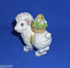 Hallmark Easter Merry Miniature Lamb 1989 Sheep with Egg Basket Used Free Ship