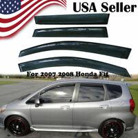 Window Visors Vent Shade Deflector Rain Guard For 2006 2007 2008 Honda Fit Jazz