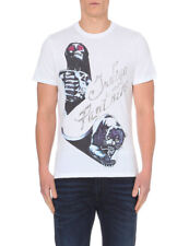 NEW MENS DIESEL INDIGO PANTHERS GRAPHIC WHITE T SHIRT TEE XL