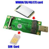 For WWAN/LTE Module Mini PCI-E to USB Adapter With SIM card Slot