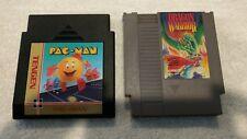 Pac-man & Dragon Warrior NES Nintendo Game Cartridge Lot Tested