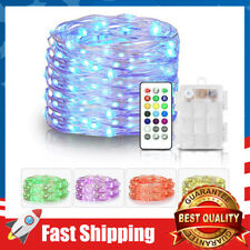 Fairy Lights Battery Operated Outdoor String Lights Remote Color Changing