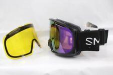 Smith Riot Ski Snow Goggles Black, ChromaPop Everyday Violet Mirror + Bonus