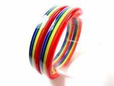 "COLORFUL  2 ""RAINBOW"" BRACELETS UNIQUE STUNNING NEW VIBRANT SUMMER WEAR (B2)"
