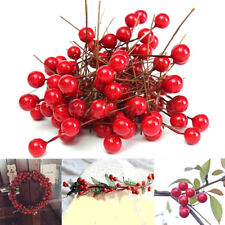 Artificial Red Holly Berry Xmas Tree Party Home Hanging Ornament Decor Chic