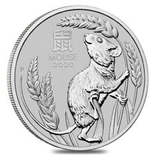 2020 1 oz Platinum Lunar Year of The Mouse / Rat BU Australia Perth Mint In Cap