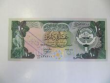Kuwait Banknote 10 Dinars P.15 Unc (Gulf War) Stolen and with MOD handstamp