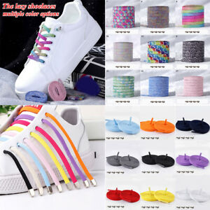 Easy Lazy No Tie Elastic Shoe Laces Cool Guy Sports Shoelaces Flat Sneakers Lace