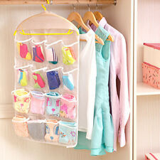 Clear Collection 16-Pocket Over The Door Shoe Kids toy Organizer Hanging Bag