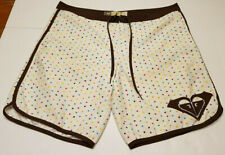 ROXY Womens Board shorts Size 11 White With Polka Dots String Waist