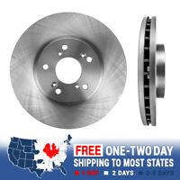 08-11 Accord EX TSX Cross Drilled Slotted Brake Rotors Ceramic Pads F+R