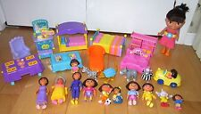 Dora The Explorer Huge Lot Of Doll Furniture Accessories Family