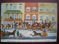 POSTCARD RP ROYAL MAIL WEST COUNTRY MAILS AT GLOUCESTER COFFEE HOUSE PICCADILLY