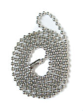 "24"" SILVER PLATED BALL CHAIN #3 NECKLACE"