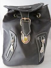 Rucksack  Damenrucksack  Kinderrucksack Schnappverschluss klein Schwarz