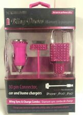 Xtreme 30 Pin Connector Bling Power Car and Home Charger for iPhone, iPod & iPad