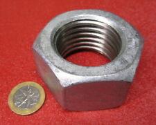"Grade 2 Galvanized Steel Hex Nut Rh, 1 1/2""-6 x 2 1/4"" W x 1 9/32"" H, 2 Pc"