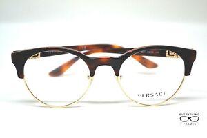 Versace V E3233-B 5217 Tortoise/Gold Eyeglasses New Authentic 49