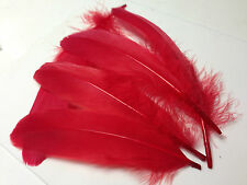 5 X 13-20cm Bright Red Goose Feathers DIY Art Craft Millinery Dream Catcher