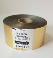 More details for gold foil, used for hot foil stamping or craft 43mm x 305mtrs