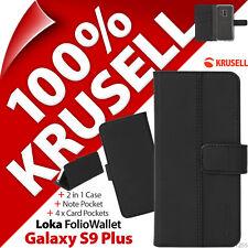 KRUSELL Loka Folio Porte-feuille 2-in-1 Pied étui Rabattable Samsung Galaxy S9